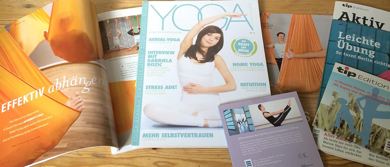Zeitschriften Artikel Yoga Collage