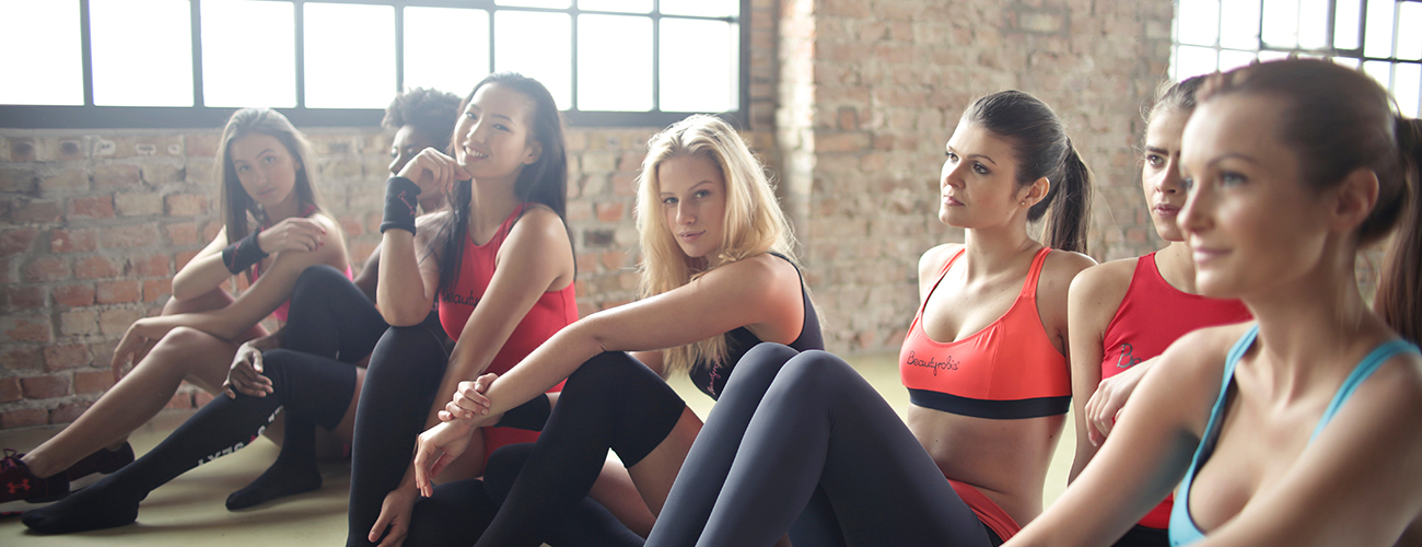 Seven Beautiful Ladies in Sportswear