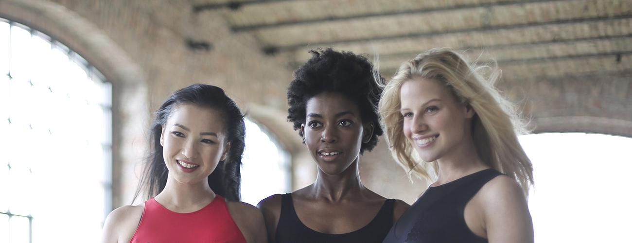Three Beautiful Ladies in Sportswear