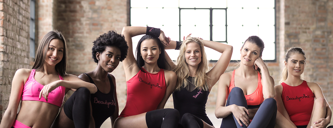 Six Beautiful Ladies in Sportswear