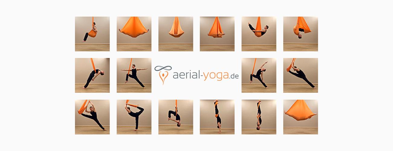 Aerial Yoga Übungen für Anfänger