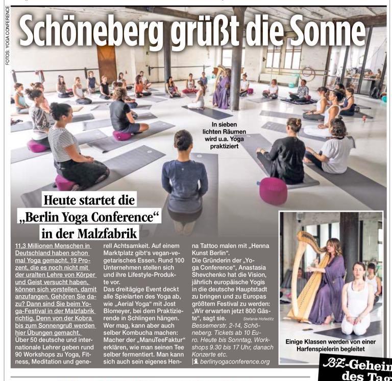 Berliner Zeitung berichtet über Berlin Yoga Conference